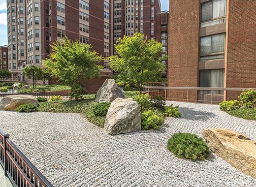 Zen garden at Zen Apollo